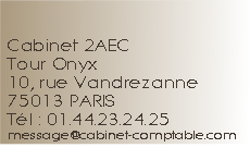 2AEC Cabinet Actions Audit & Expertise Comptable Paris 75013 - Commissaires aux comptes
